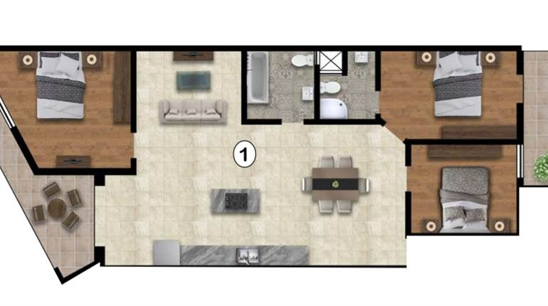 Zabbar, 3 Bedroom Apartment Opposite Green Area