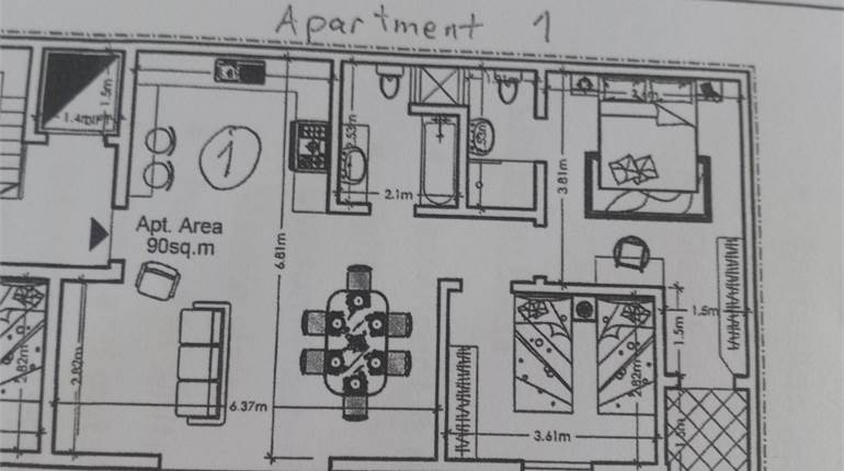 MOSTA, ELEVATED GROUND FLOOR APARTMENT
