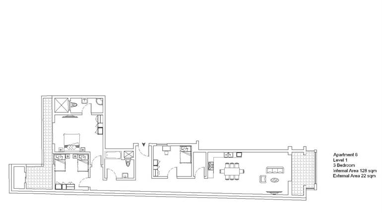 Mqabba - On Plan - 3 Bedroom Apartment