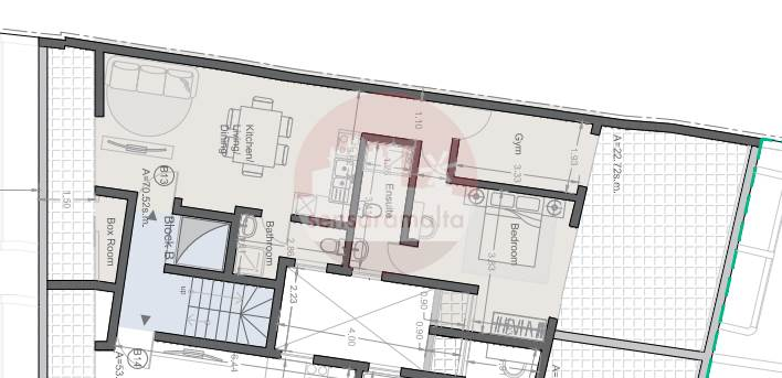 MSIDA, 1 BEDROOM PENTHOUSE WITH TERRACES