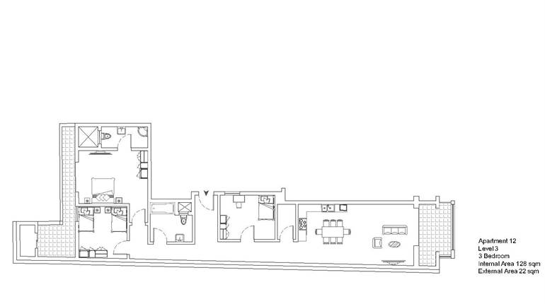 Mqabba, On Plan - 3 Bedroom Apartment