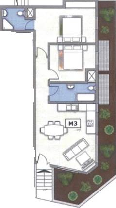 Marsaxlokk - 2 Bedroom Elevated Maisonette on plan